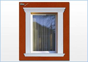 Ablakkeretek többfajta ablakdíszléc használatával