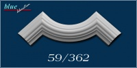 Dália 59 fali, mennyezeti ív díszítőelem
