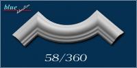 Frézia 58 fali, mennyezeti ív díszítőelem