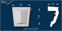 Csongor 107-F ablak ékkő