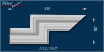 Oszkár 102 bal oldali dupla ablak sarokelem