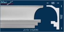 Margó 210 rejtett világításos díszléc