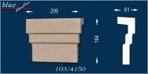 Bálint 103-DF kérgesített ablak középdísz